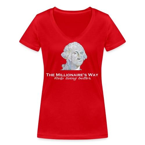 Il nostro logo in bianco - T-shirt ecologica da donna con scollo a V di Stanley & Stella