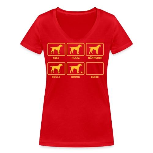 Für alle Hundebesitzer mit Humor - Frauen Bio-T-Shirt mit V-Ausschnitt von Stanley & Stella