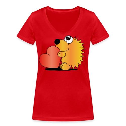 Igelchen - Frauen Bio-T-Shirt mit V-Ausschnitt von Stanley & Stella