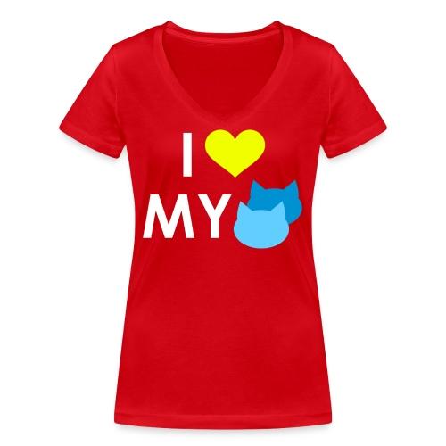 I love my cats - Frauen Bio-T-Shirt mit V-Ausschnitt von Stanley & Stella
