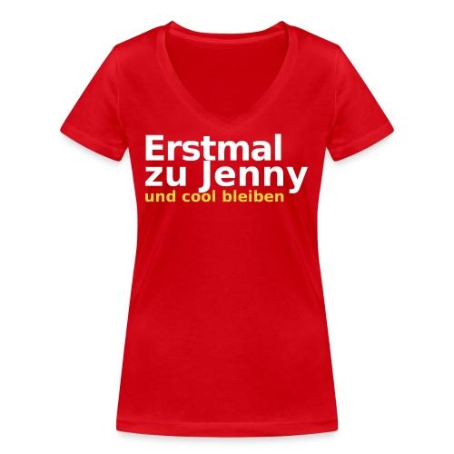 Erstmal zu Jenny - Frauen Bio-T-Shirt mit V-Ausschnitt von Stanley & Stella
