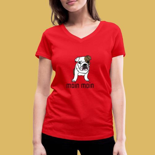 Hund - Frauen Bio-T-Shirt mit V-Ausschnitt von Stanley & Stella