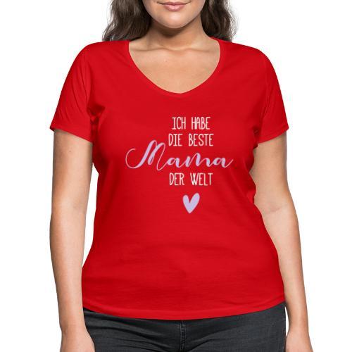 beste mama der welt herz 01 - Frauen Bio-T-Shirt mit V-Ausschnitt von Stanley & Stella