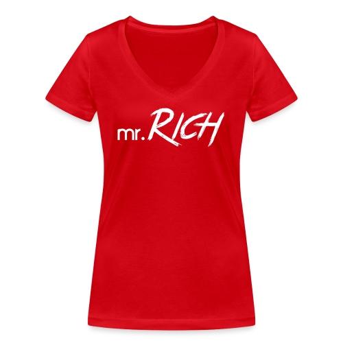 Mr. Rich - Frauen Bio-T-Shirt mit V-Ausschnitt von Stanley & Stella