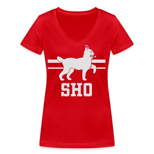 SHO Häme - Stanley & Stellan naisten v-aukkoinen luomu-T-paita