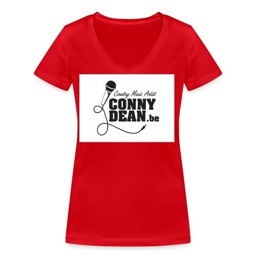 CONNY DEAN klever 45x45 001 - Vrouwen bio T-shirt met V-hals van Stanley & Stella