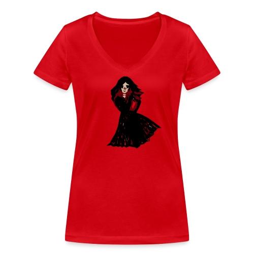 muñeca - Camiseta ecológica mujer con cuello de pico de Stanley & Stella