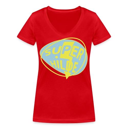 superhilde - Frauen Bio-T-Shirt mit V-Ausschnitt von Stanley & Stella
