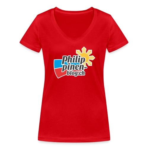 Das original Philippinen-Blog Logo - Frauen Bio-T-Shirt mit V-Ausschnitt von Stanley & Stella