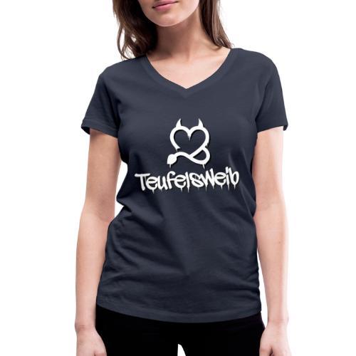 Teufelsweib - Frauen Bio-T-Shirt mit V-Ausschnitt von Stanley & Stella