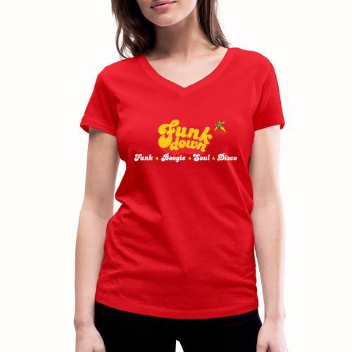 FunkDown Official Merchandise (med genrer) - Økologisk Stanley & Stella T-shirt med V-udskæring til damer