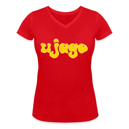 ujago gelb - Frauen Bio-T-Shirt mit V-Ausschnitt von Stanley & Stella
