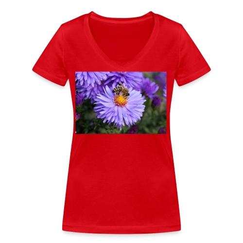wertvolle Biene - Frauen Bio-T-Shirt mit V-Ausschnitt von Stanley & Stella