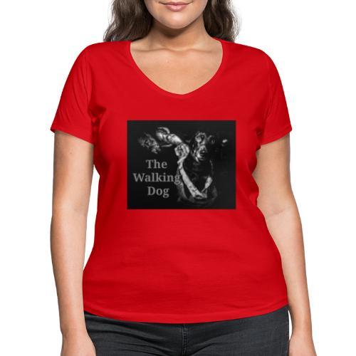 The Walking Dog - Frauen Bio-T-Shirt mit V-Ausschnitt von Stanley & Stella