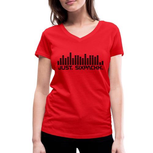 JUST. SIXPACKK. Beat - Frauen Bio-T-Shirt mit V-Ausschnitt von Stanley & Stella
