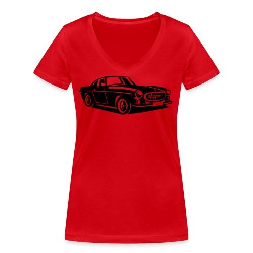 Volvo P1800 The Saint - Frauen Bio-T-Shirt mit V-Ausschnitt von Stanley & Stella