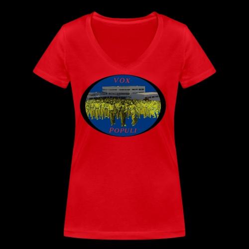 Vox Populi - T-shirt ecologica da donna con scollo a V di Stanley & Stella