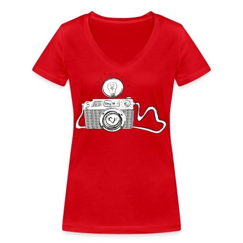 S33 camera-smile - Frauen Bio-T-Shirt mit V-Ausschnitt von Stanley & Stella