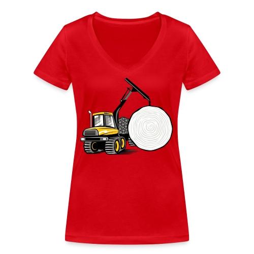 Kuormatraktori t paidat, hupparit, lahjatuotteet - Stanley & Stellan naisten v-aukkoinen luomu-T-paita