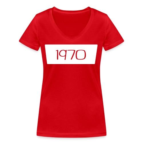 1970 - Vrouwen bio T-shirt met V-hals van Stanley & Stella