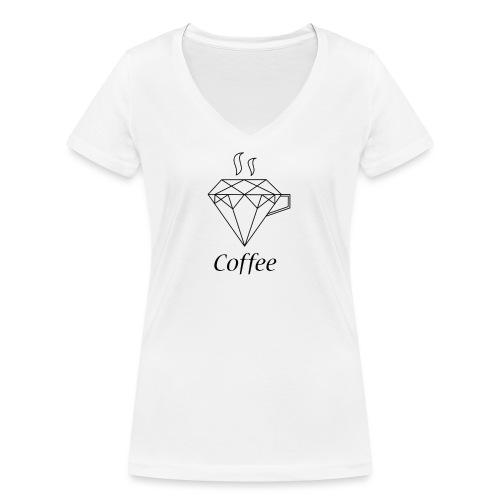 Coffee Diamant - Frauen Bio-T-Shirt mit V-Ausschnitt von Stanley & Stella