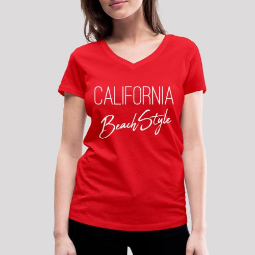 California Beach Style Shirt - Frauen Bio-T-Shirt mit V-Ausschnitt von Stanley & Stella