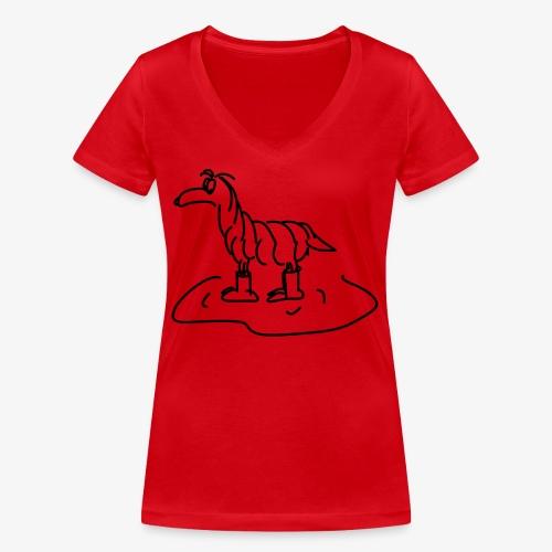 Regenhund - Frauen Bio-T-Shirt mit V-Ausschnitt von Stanley & Stella