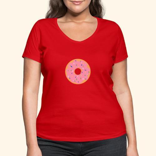Donut-Shirt - Frauen Bio-T-Shirt mit V-Ausschnitt von Stanley & Stella