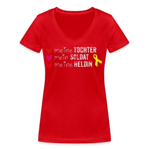 Meine Tochter Soldat Heldin weiss - Frauen Bio-T-Shirt mit V-Ausschnitt von Stanley & Stella