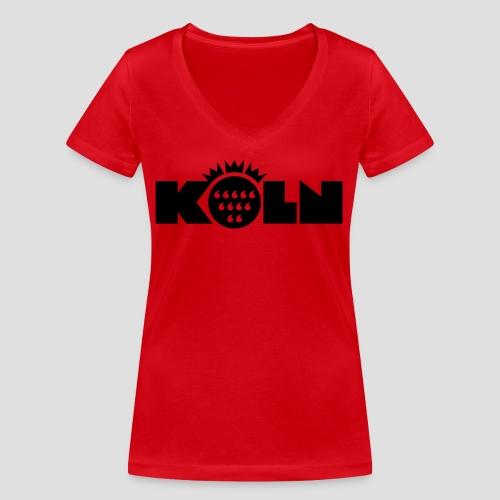 Köln Wappen modern - Frauen Bio-T-Shirt mit V-Ausschnitt von Stanley & Stella