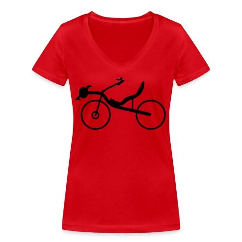 Raptobike - Frauen Bio-T-Shirt mit V-Ausschnitt von Stanley & Stella