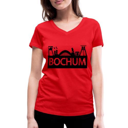 Bochumer Skyline - Frauen Bio-T-Shirt mit V-Ausschnitt von Stanley & Stella