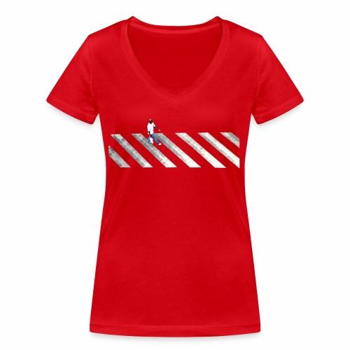 Stripes - Women's Organic V-Neck T-Shirt by Stanley & Stella