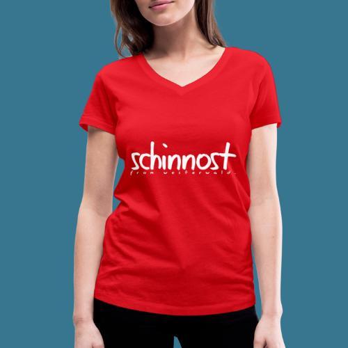 Schinnoost PINK Kollektion - Frauen Bio-T-Shirt mit V-Ausschnitt von Stanley & Stella