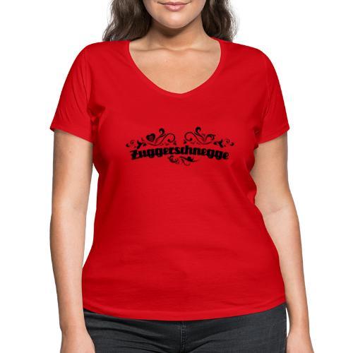Zuggerschnegge (schwarz) - Frauen Bio-T-Shirt mit V-Ausschnitt von Stanley & Stella