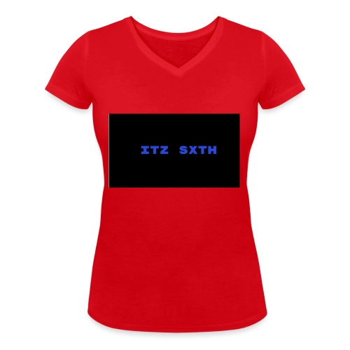 Itz Sxth Navy Clothing - Women's Organic V-Neck T-Shirt by Stanley & Stella