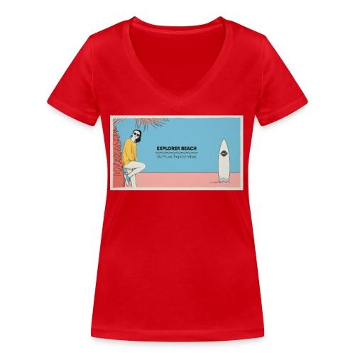 Noise Explorer Beach Test - T-shirt bio col V Stanley & Stella Femme