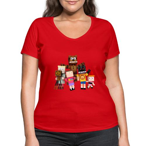 Withered Bonnie Productions - Meet The Gang - Women's Organic V-Neck T-Shirt by Stanley & Stella
