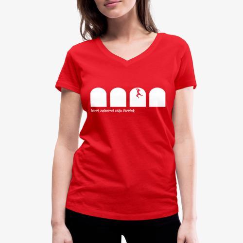 Harri zaharrei esku berriak - Women's Organic V-Neck T-Shirt by Stanley & Stella