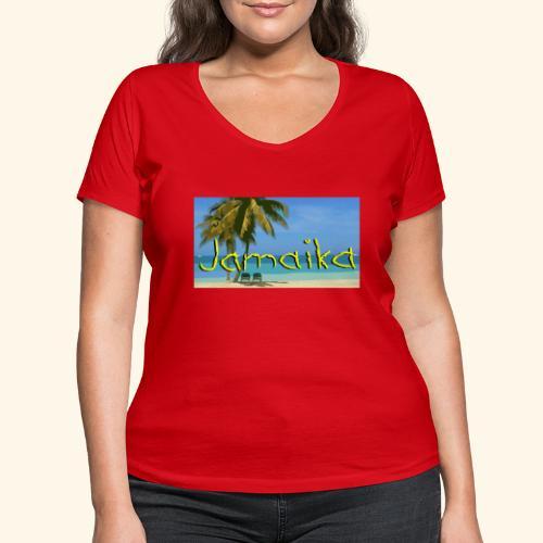 JAMAIKA - Frauen Bio-T-Shirt mit V-Ausschnitt von Stanley & Stella
