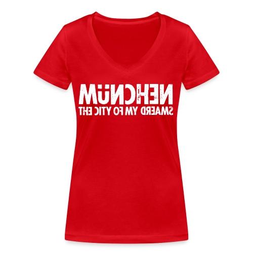 München (white oldstyle) - Frauen Bio-T-Shirt mit V-Ausschnitt von Stanley & Stella