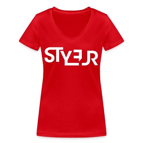 styleur logo spreadhsirt - Frauen Bio-T-Shirt mit V-Ausschnitt von Stanley & Stella
