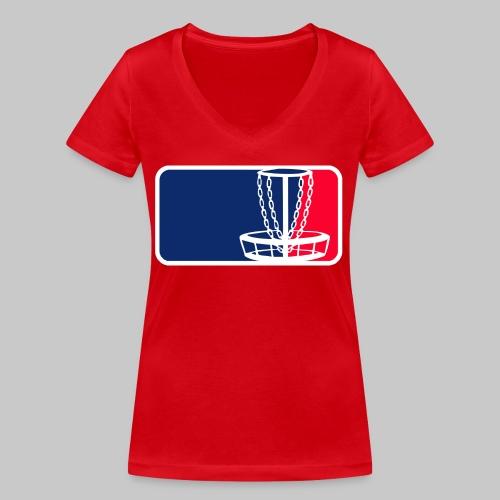 Disc golf - Stanley & Stellan naisten v-aukkoinen luomu-T-paita