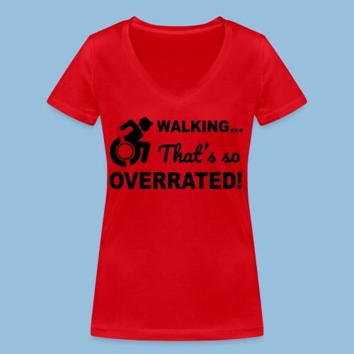 Walkingoverrated2 - Vrouwen bio T-shirt met V-hals van Stanley & Stella