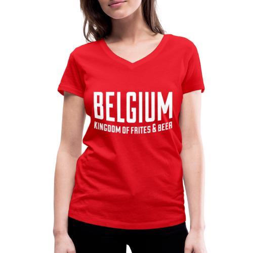 Belgium kingdom of frites & beer - T-shirt bio col V Stanley & Stella Femme