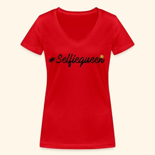#Selfiequeen - Vrouwen bio T-shirt met V-hals van Stanley & Stella