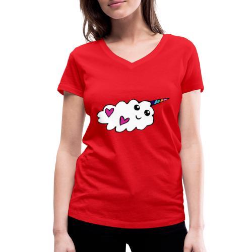 Nuage licorne Kawaii - T-shirt bio col V Stanley & Stella Femme