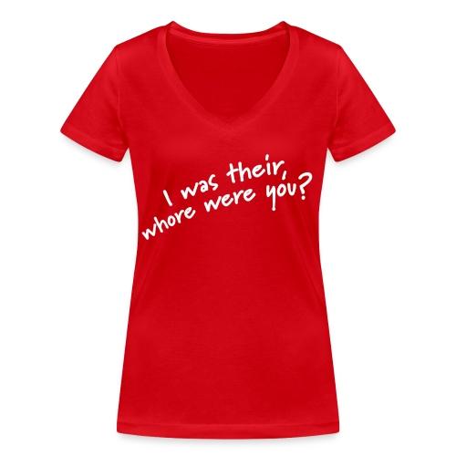 Dyslexic I was there - Vrouwen bio T-shirt met V-hals van Stanley & Stella