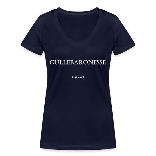 Güllebaronesse - Frauen Bio-T-Shirt mit V-Ausschnitt von Stanley & Stella