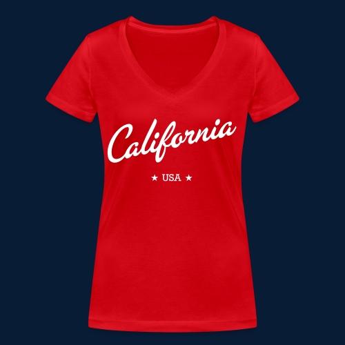 California - Frauen Bio-T-Shirt mit V-Ausschnitt von Stanley & Stella